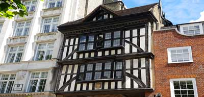 The old gatehouse of St Bartholomew The Great.
