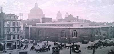 A photograph of Newgate Prison.
